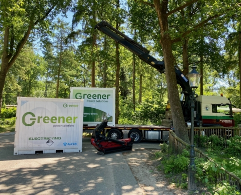 Two of our Greener batteries in the forest